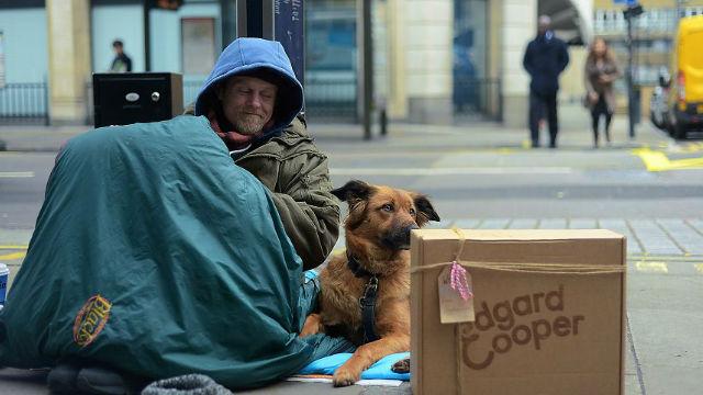 同じ言葉を話さなくても心は通じ合う!ホームレスの人間と犬の素敵な絆。のアイキャッチ