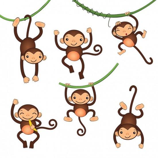 かわいい猿の絵