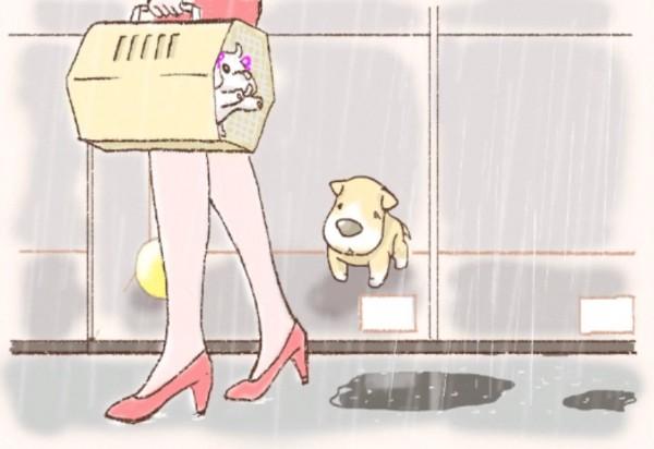 ペットショップで買われる犬
