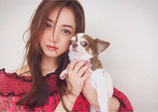 佐々木希と犬のマロン